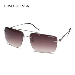 rimless men driving sunglasses