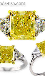 yellow diamond engagement ring $300